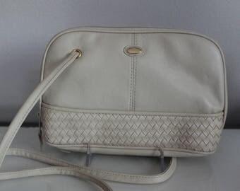 Vintage C.B Collection Beige Multi-Compartment Handbag