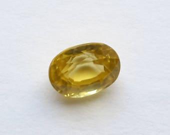 1.70 ct natural zircon, 7.4 mm x 5.7 mm x 4.1 mm, zircon loose genuine gemstone, zircon natural gem, oval zircon gemstone,