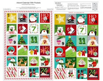 Christmas Advent, Stockings, Book Sewing Panels, A Christmas Wish