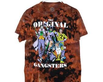 Handmade Reverse/Tie Dye DC Comics Original Gangsters Tee (Medium)