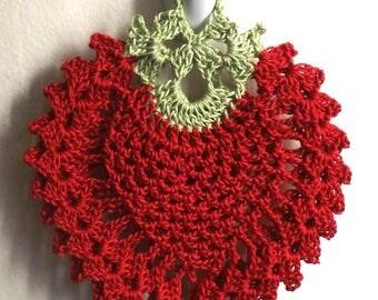 Vintage Style *Strawberry* Crocheted Potholder