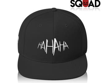 "All Black ""HA HA HA"" Joker Suicide Squad Snapback"