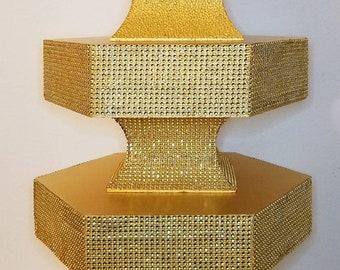 Cake/cupcake stand, bling stand, bling cupcake stand, cake stand, wedding bling stand, gold cake stand, cupcake stand, bling