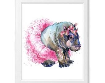 Fiona Hippo Print