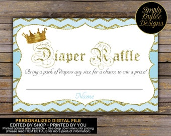 Royal Prince Diaper Raffle Ticket