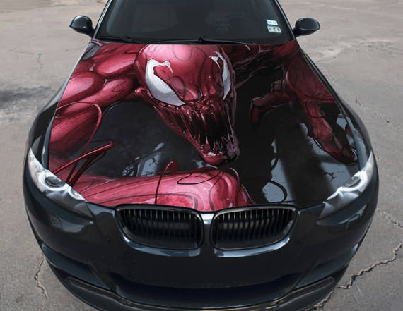 Vinyl Car Hood Full Color Wrap Graphics Decal Carnage The