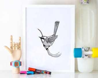 Art print | Tiny bird