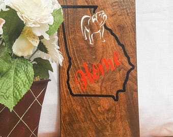 Georgia, Home, Wood, Wooden Sign, GA, New Home Gift, Wall Decor, Wall Hanging, GA Sign, New Home, Wedding Gift, Gift for Her, Gift for Him