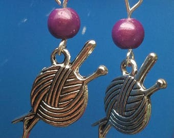 Cute earring for the knitter in your life!