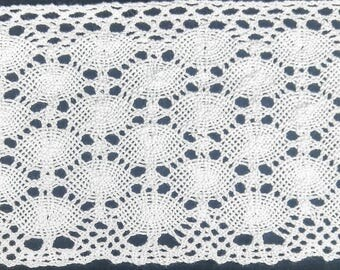 """4"""" Cotton Cluny Lace Trimming - 5 Continuous Yards"""