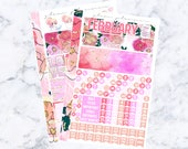 February A5 Monthly Spread Sticker Kit (Glam Planner Stickers for Erin Condren Life Planner)