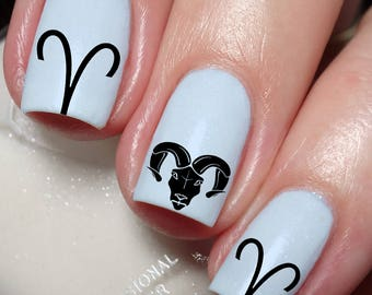 Aries The Ram astrological sign zodiac Nail Art Sticker Water Transfer Decal 118