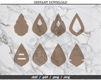 Teardrop cut file,leather jewelry making,earrings,SVG, DXF,PNG,Cricut,Silhouette,cutting machine,vector graphic,explore,dangle drop,hole