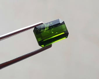 WOW 2.45 Carat Green color loose tourmaline gemstone from@ Afghanistan 10*6.5*4mm (12)