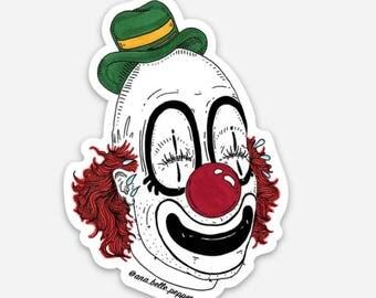 Crying clown sticker