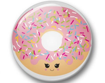 Donut kawaii badge 32mm | Cute kawaii donut pin back button | kawaii pin badge  | kids party | Gift Party Favor | donut Accessory |