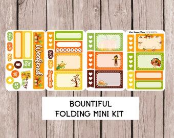 BOUNTIFUL Folding Mini Sticker Kit | perfect for ALL PLANNERS!! | CCf40