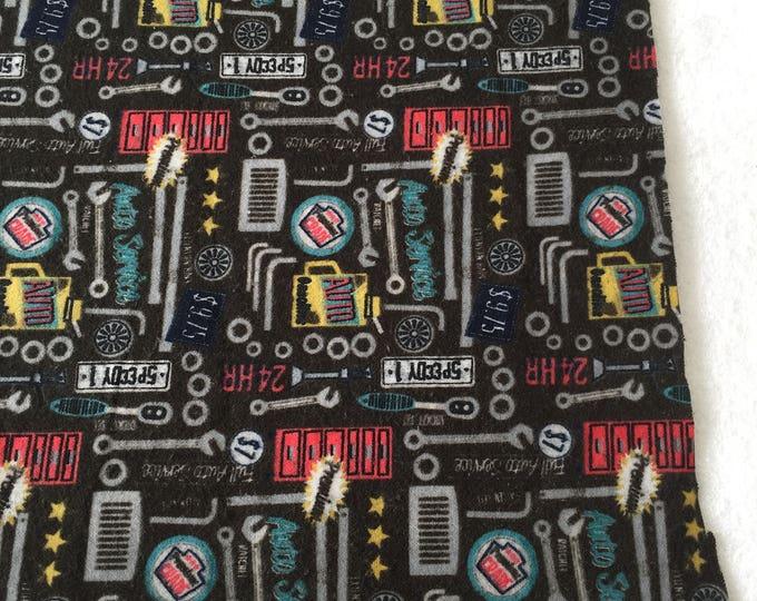 three pack mechanic themed burp cloths