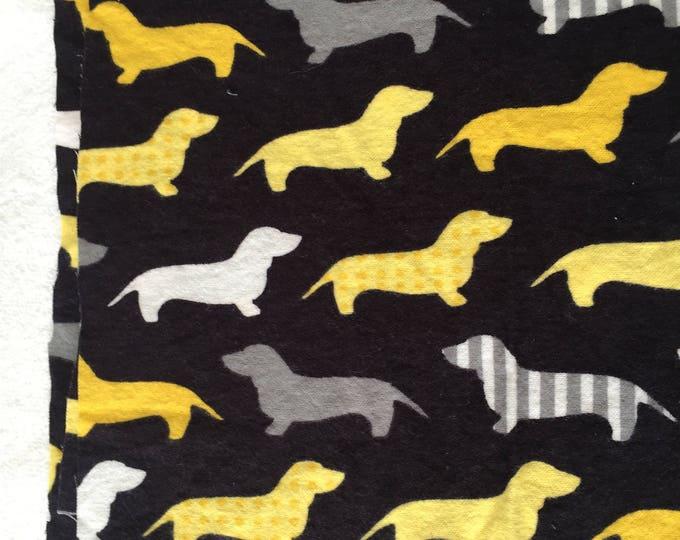 three pack weenie dog burp cloths