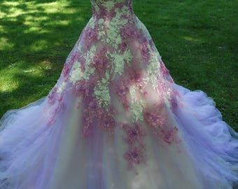 Evening gowns -  purple pink gowns design