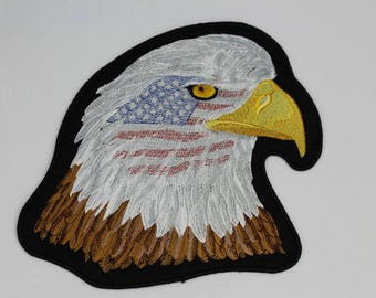 Eagle ~ USA ~ Flag ~ Patch  ~ Biker patch ~ Motorcycle Patch ~ Embroidered Iron on Patch