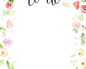 Floral 'To Do' Notepad