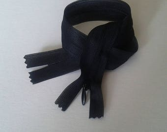2 invisible zippers black 30 cm