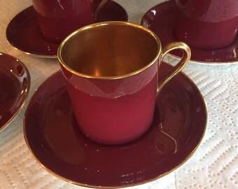 Crown Devon Fieldings Demitasse Cups & Saucers