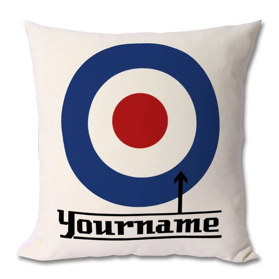 Personalised MOD Cushion / Target Cushion - Zipped cover and cushion included