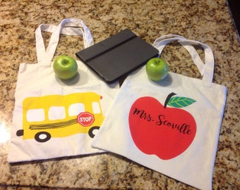 Customized/Personalized Teacher Canvas Tote Bag-Gift