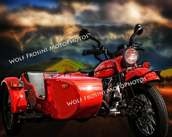 Digital Download Ural Motorcycle Ural Mountains, Gifts for Him, Classic, Classic Motorcycles, Motorcycles, Wall Art, Motorcycle prints