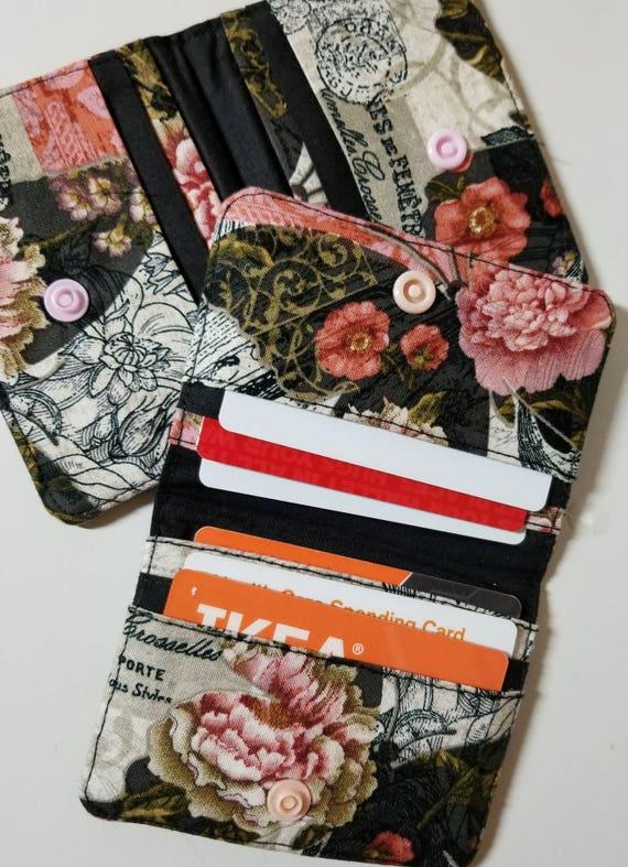 Beautiful snap fabric wallet