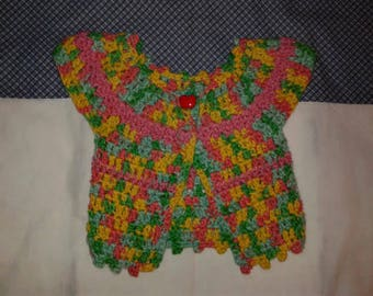 OOAK Hand Crocheted Baby Sweater  0 - 6 months