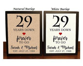 29th anniversary gift 29th wedding anniversary gift gift for 29th anniversary 29 years