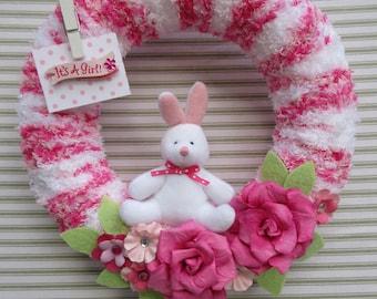 Baby Girl Wreath, Its A Girl Wreath, Gender Reveal Wreath, Baby Shower Wreath, Hospital Door Wreath, Baby Girl Nursery Wreath