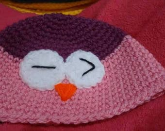 Owl hat - toddler