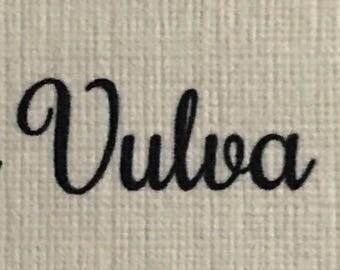 Proud vulva resin necklace
