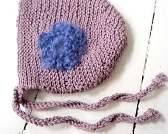 baby bonnet knitted