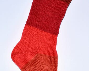 Knit Christmas Stocking Handmade Colorful Extra Large