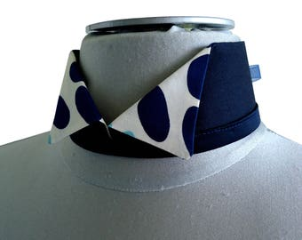 Detachable collar Navy officer Tiphy dots