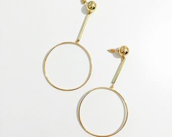 big circle bar earrings