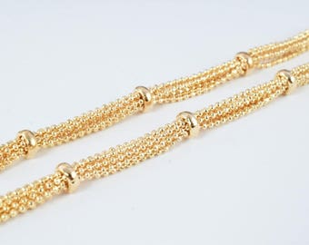 """18K Gold Filled Chain 18.5"""" Inch CG181"""