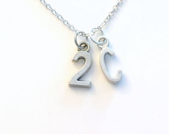 Gift for Athlete Necklace, Custom Sport Jewelry, Jersey Number Silver Charm Pendant, Rugby Football, 1 2 3 4 5 6 7 8 9 20 17 15 Teen Boy Him