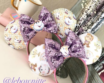 Mrs potts chip beauty and the beast inspired ears