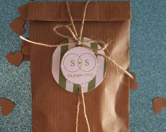 Kraft paper bags with customizable gift tags (10 PCs)