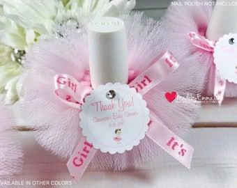 10 Princess Baby Shower Favors|Baby Shower Favors|Nail Polish Tutus|Nail  Polish
