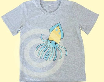 Squid shirt Kids tshirts -Toddler tees -Toddler shirts - Cute Toddler shirts - Squid tshirt