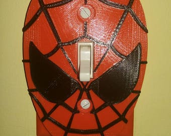 3d Printed Spiderman Light Switch Cover Plate