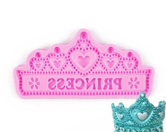 PRINCESS Pearled Tiara Silicone Mold
