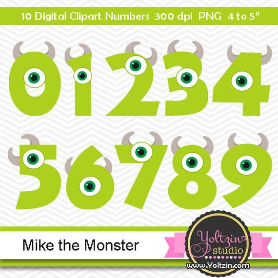 Monsters Clipart Numbers Mike Inc Monster Clipart